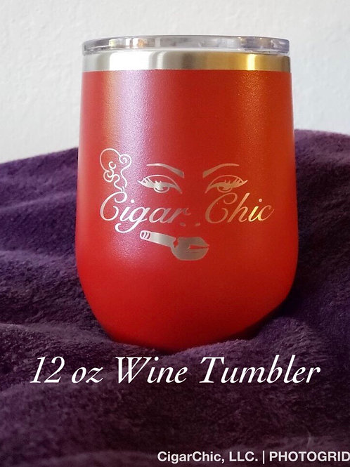 12 oz Wine Tumbler (Red)