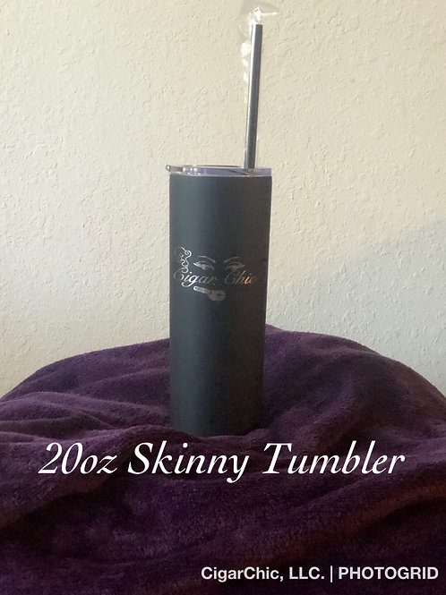 20oz Skinny Tumbler (BlK)