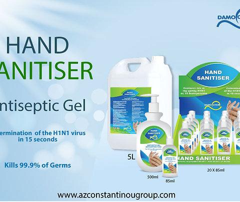 Hand Sanitiser Antiseptic Hand Gel Kills 99.9% of germs
