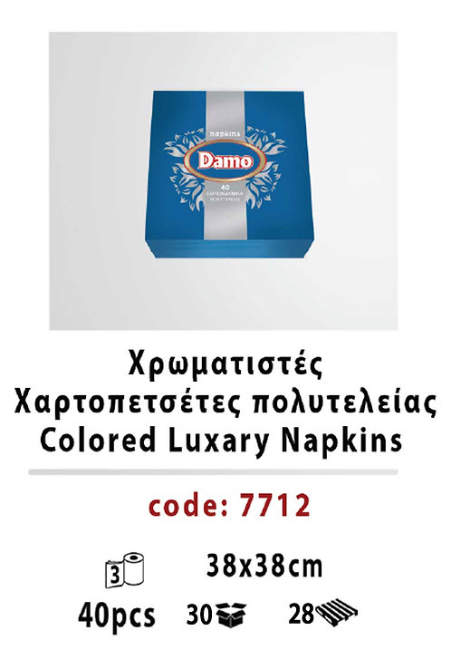 Colored Luxary Napkins blue 38 x 38
