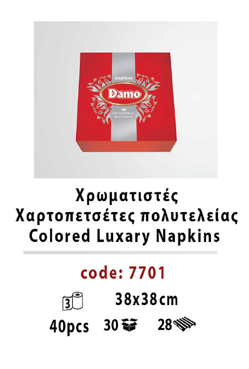 Colored Luxary Napkins Red 38 x 38