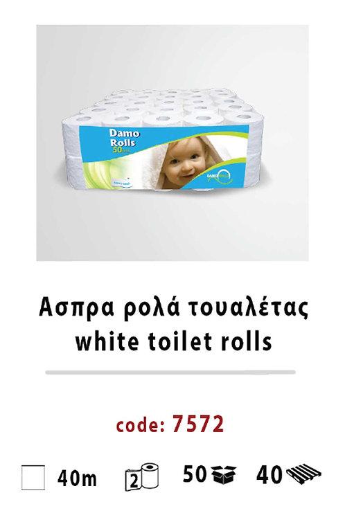 White Damo toilet rolls 7572