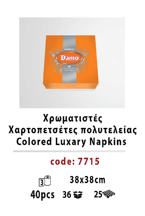 Colored Luxary Napkins Orange 38 x 38