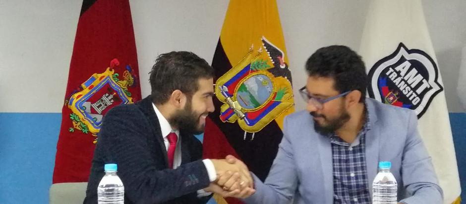 Alsev y Quito sellan acuerdo para mejorar la seguridad vial