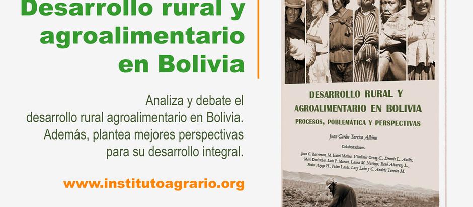 """Se libera el libro """"Desarrollo rural y agroalimentario en Bolivia"""""""