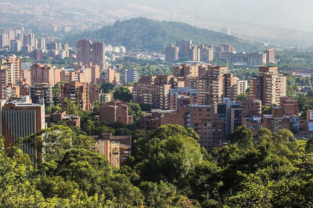 Paisaje urbano de Medellín, Colombia