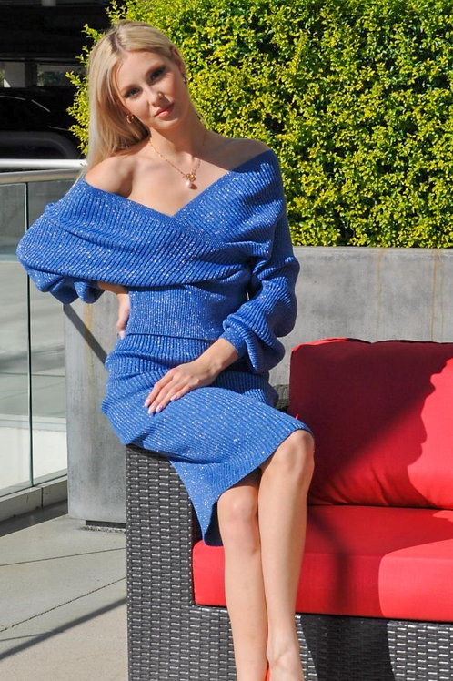 """""""Milano Blue"""" Knitted Set"""