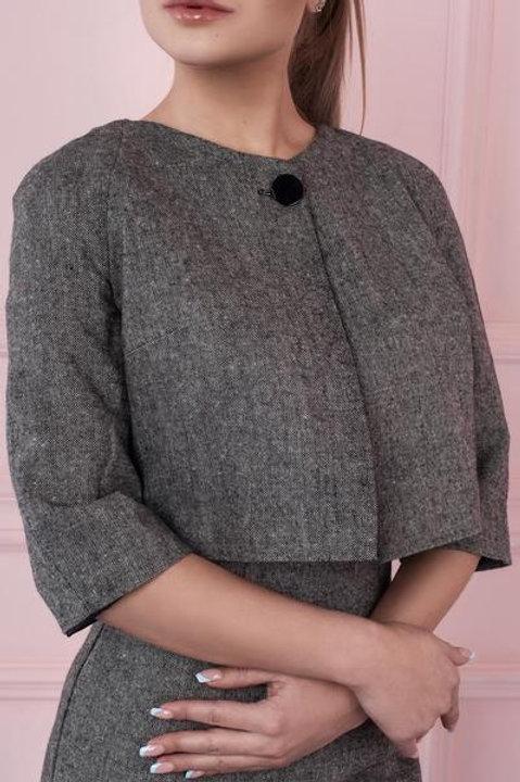 Wool Blend Short Jacket