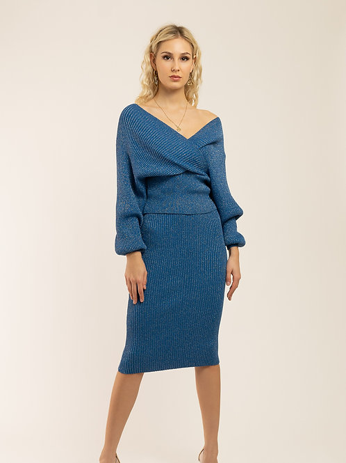 """Milano Blue"" Knitted Set"