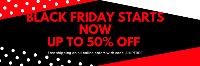 White Black Friday Discount Email Header