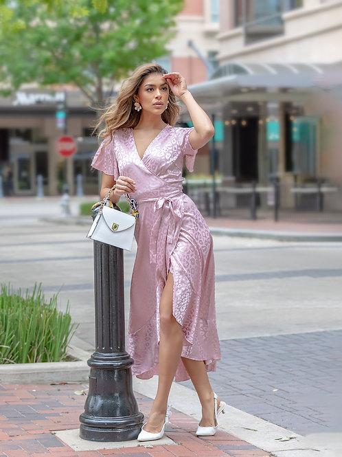 """Anne-belle"" Satin Midi Dress"