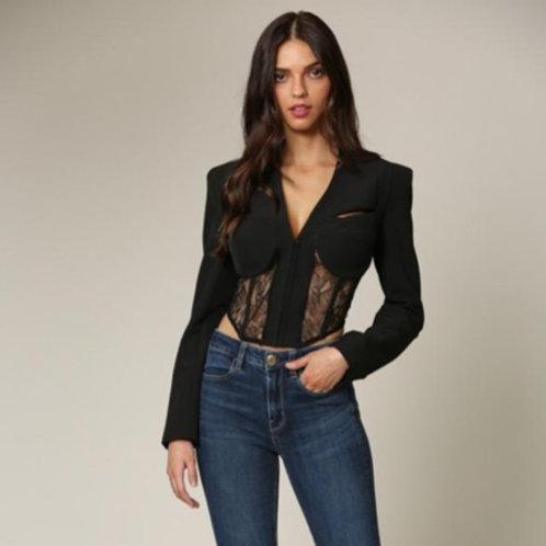 Lace blazer corset