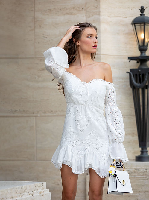 """Melissa"" Off shoulder dress"