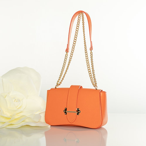 "Italian leather ""Lori Orange "" handbag"