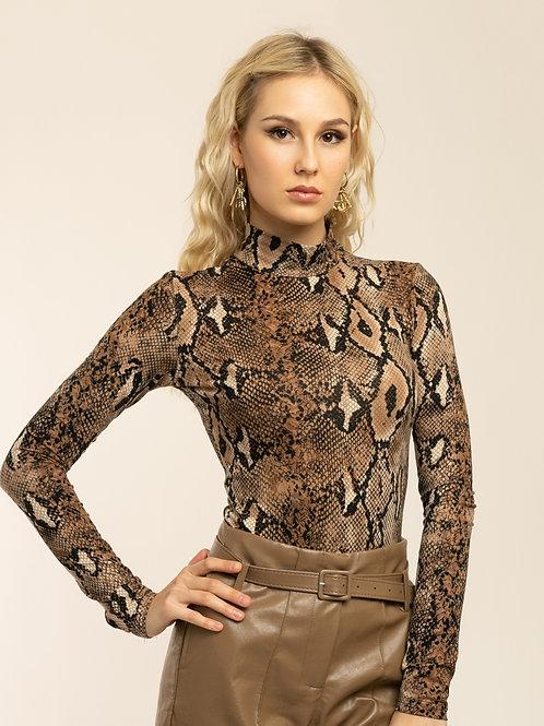 """Alexa"" snake print bodysuit"