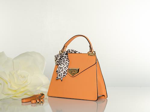 "Italian Leather ""Misty Orange"" handbag"