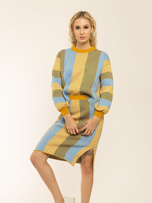 """Stripe"" Knitted Two Piece"