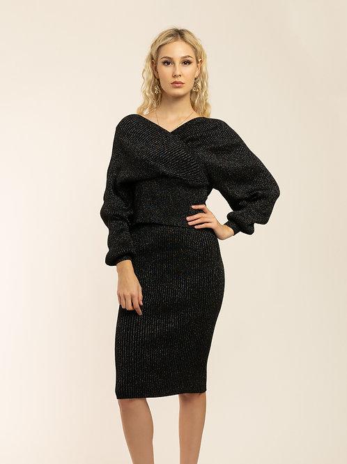 """Milano Black"" Knitted set"