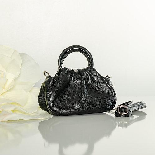 """Italian leather """"mini"""" bag in black"""