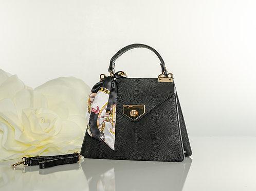"Italian Leather "" Misty Black"" handbag"