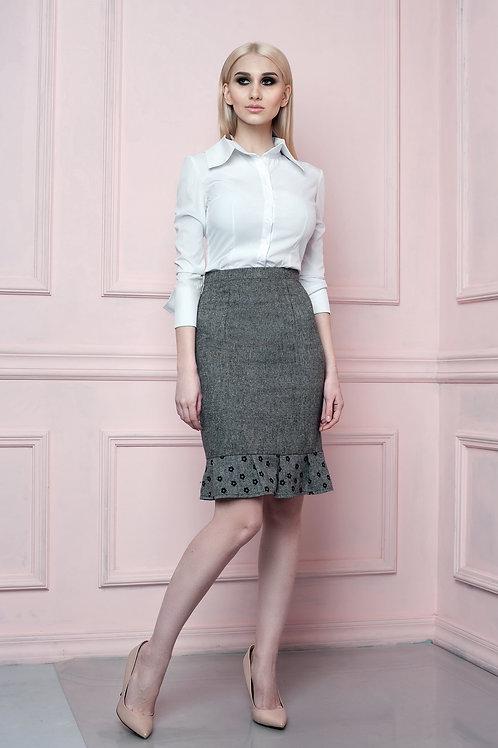 Wool Blend Ruffled skirt