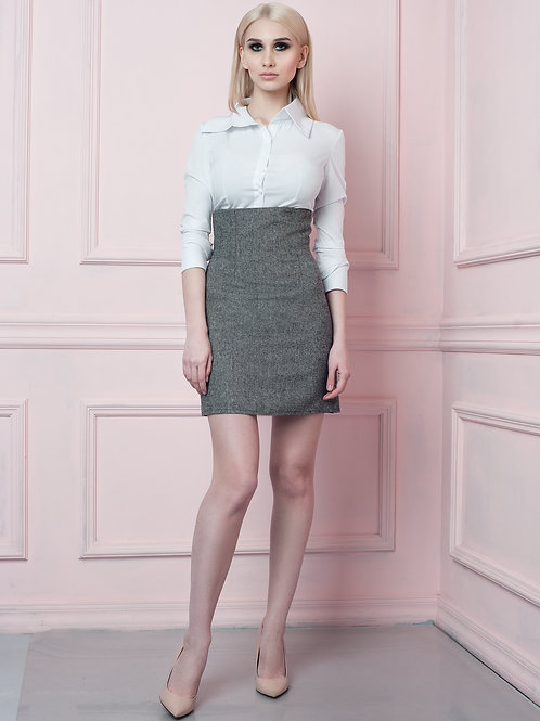 Wool Blend high wasted skirt
