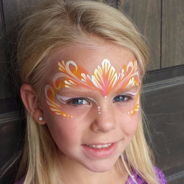 Fairytale princess face paint