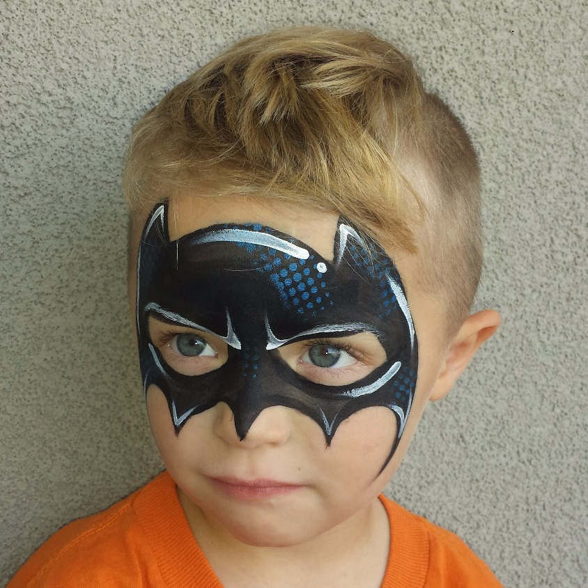 Batman mask face paint
