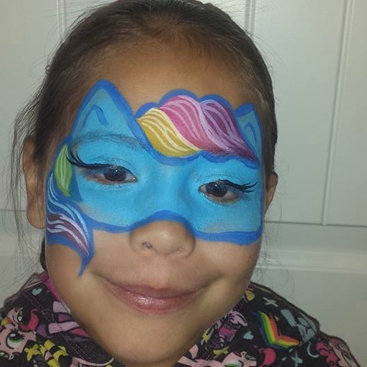 Rainbow Dash face paint