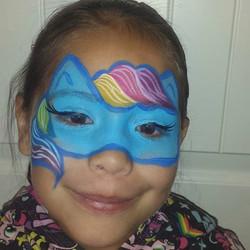 Rainbow Dash face paint