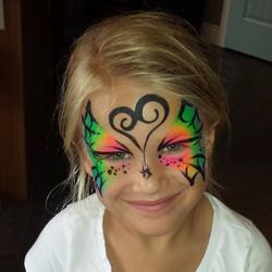 Halloween webbed butterfly
