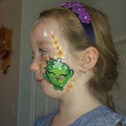 Shopkins Apple Blossom face paint