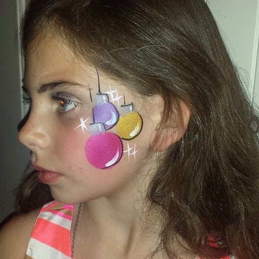 Christmas ornament face paint