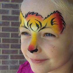 Tiger face paint