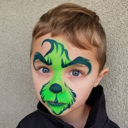 Grinch Christmas Face Paint
