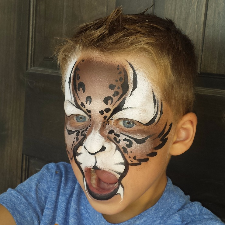 Bobcat face paint