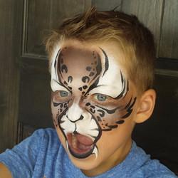 Bobcat face paint