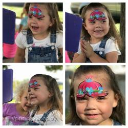 Princess Poppy face paint