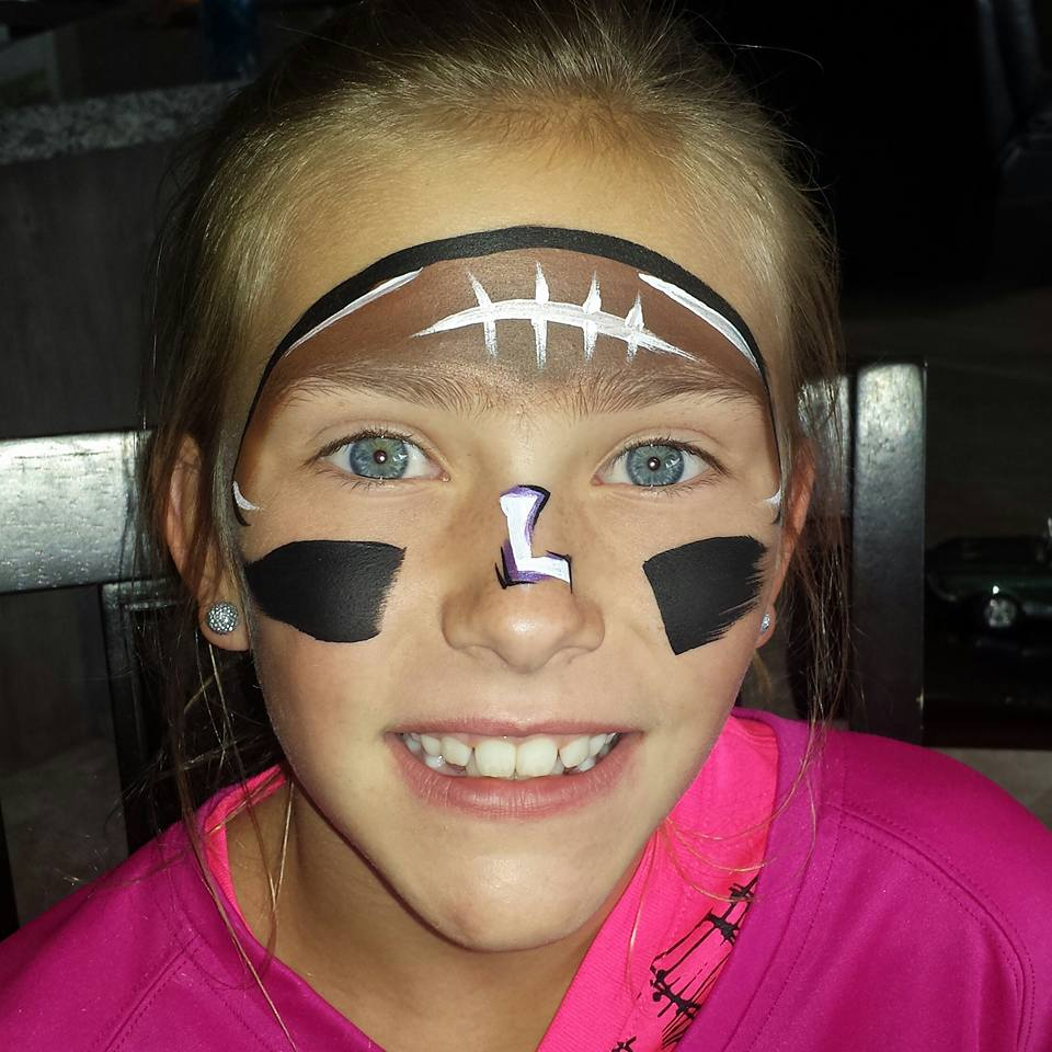 Football face paint
