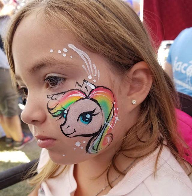 🦄 #unicornfacepaint #facepaint _#facepa