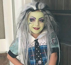 Frankiestein face paint and makeup