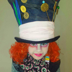 Mad Hatter face paint and makeup