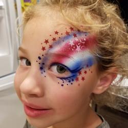 Patriotic face paint