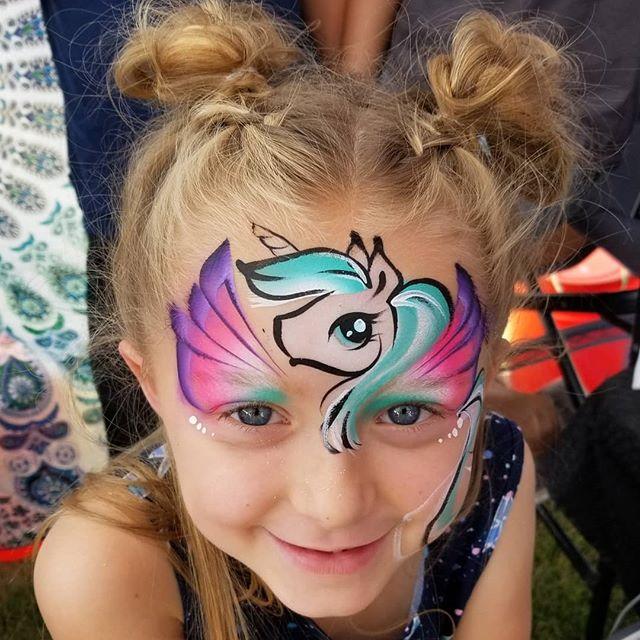 #unicornfacepaint by #facepaintfever