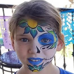 Flower Coco Face Paint