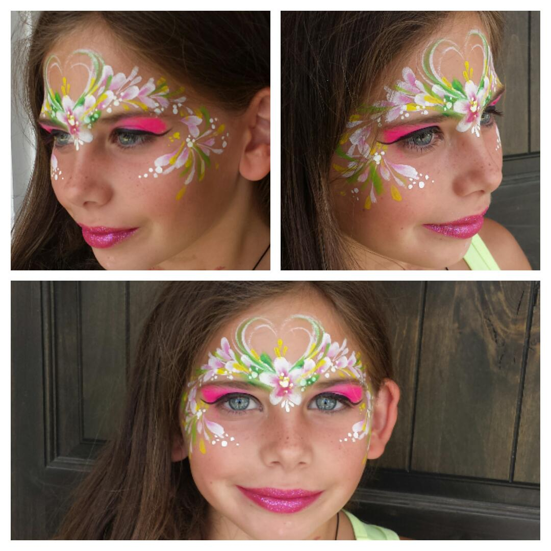 Flower fairy face paint