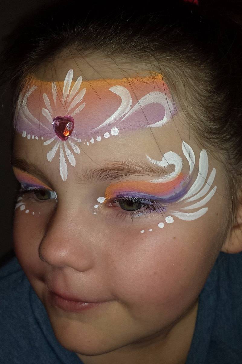 Draped princess crown face paint