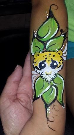 Cheetah arm paint