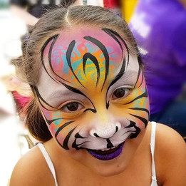 Colorful Tiger Face Paint