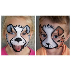 Puppy dog face paint